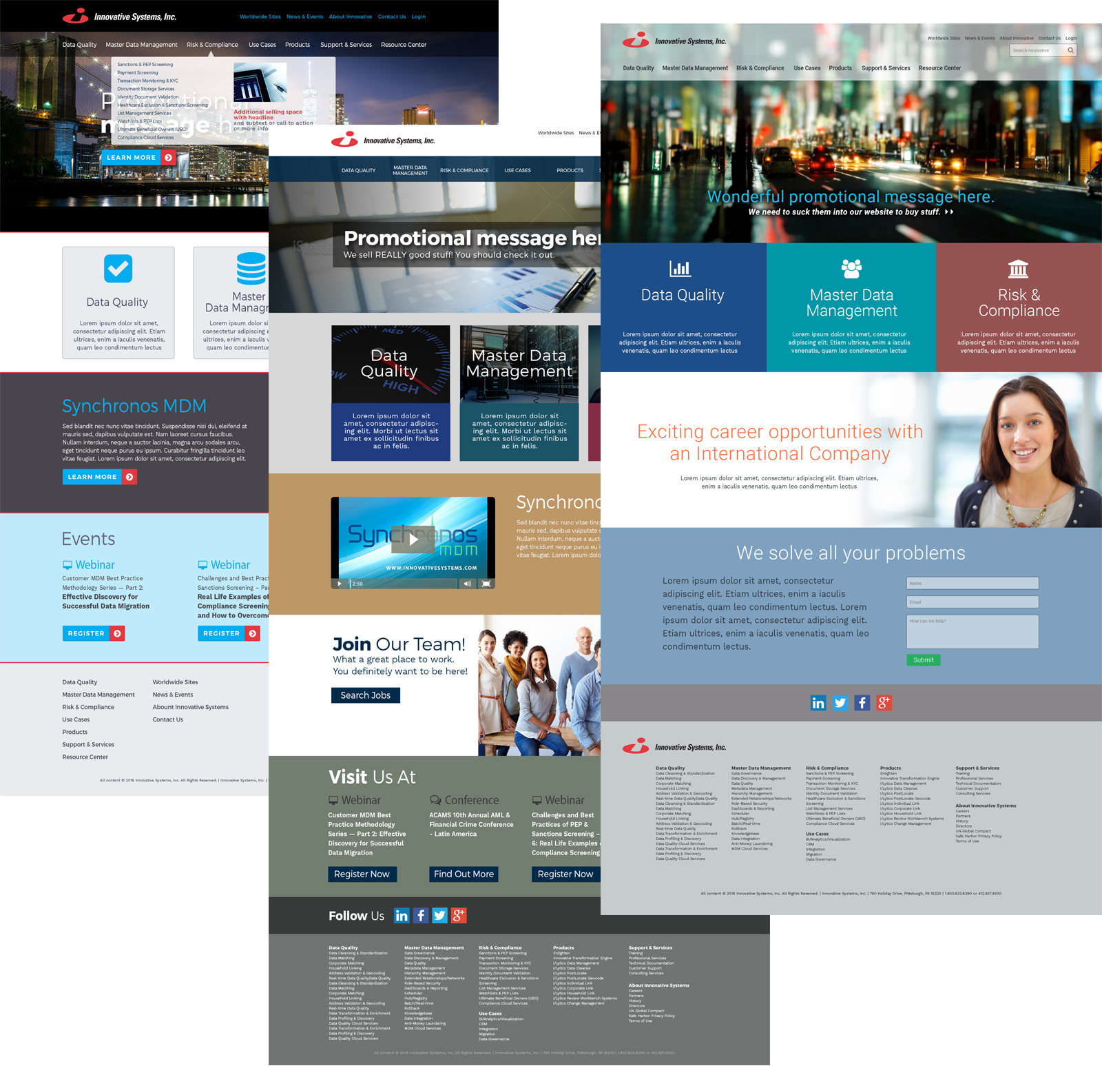 Website Design Mockups